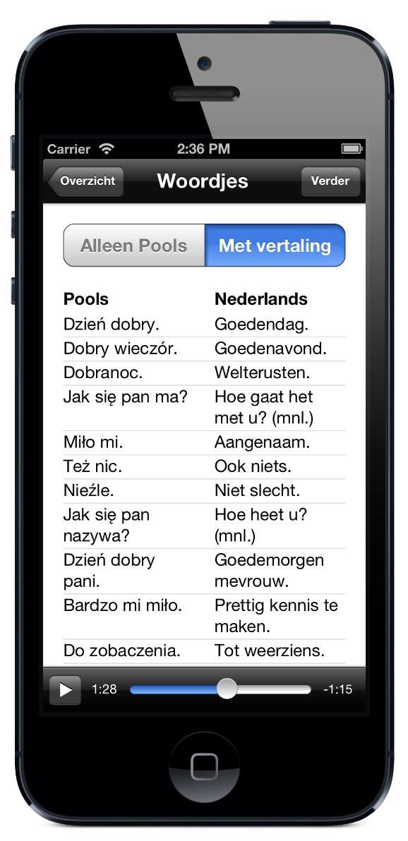 Aplikacja na iPhone i iPad: rozmawiam po holendersku